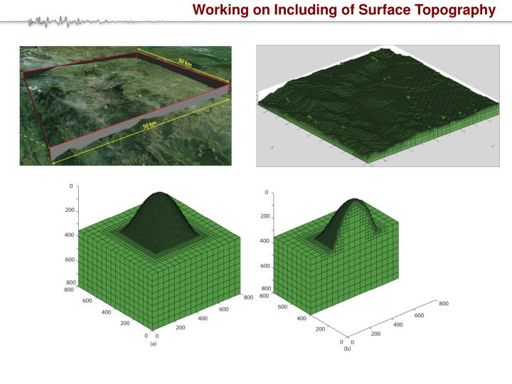 Working on Including of Surface Topography