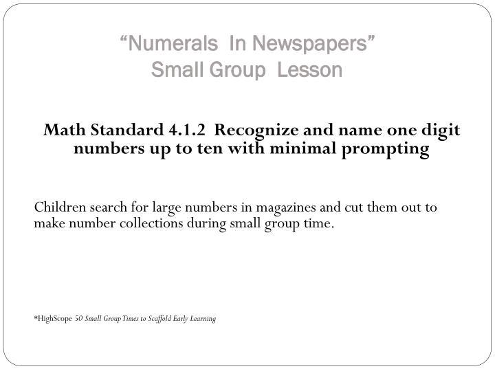 """""""Numerals"""
