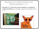 standard 4 1 3 written numbers and number quantities cont