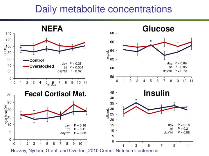Daily metabolite concentrations