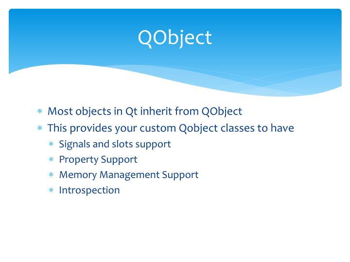QObject