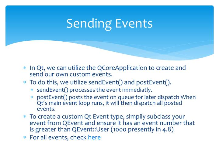 Sending Events