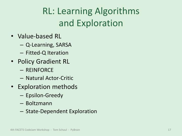 RL: Learning Algorithms
