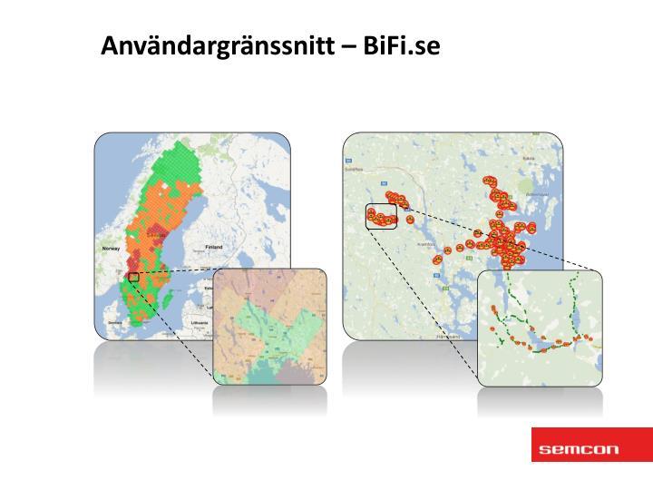 Användargränssnitt – BiFi.se