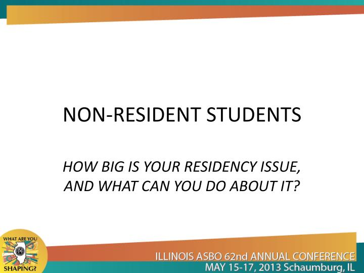 NON-RESIDENT STUDENTS