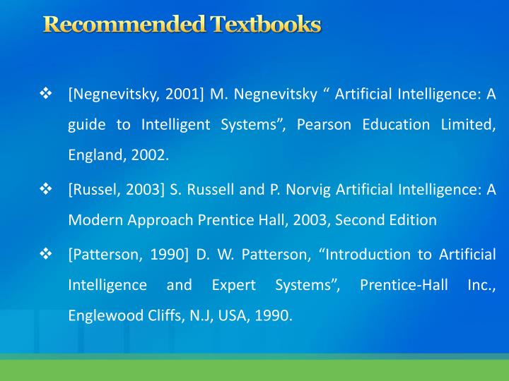 Recommended Textbooks