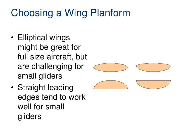 Choosing a Wing