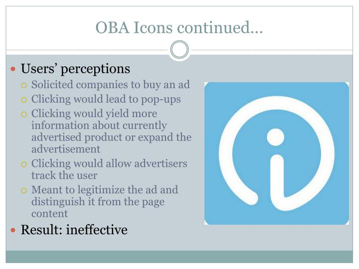 OBA Icons continued…