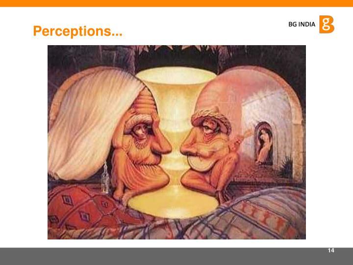 Perceptions...