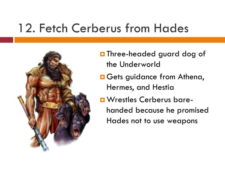 12. Fetch Cerberus from Hades