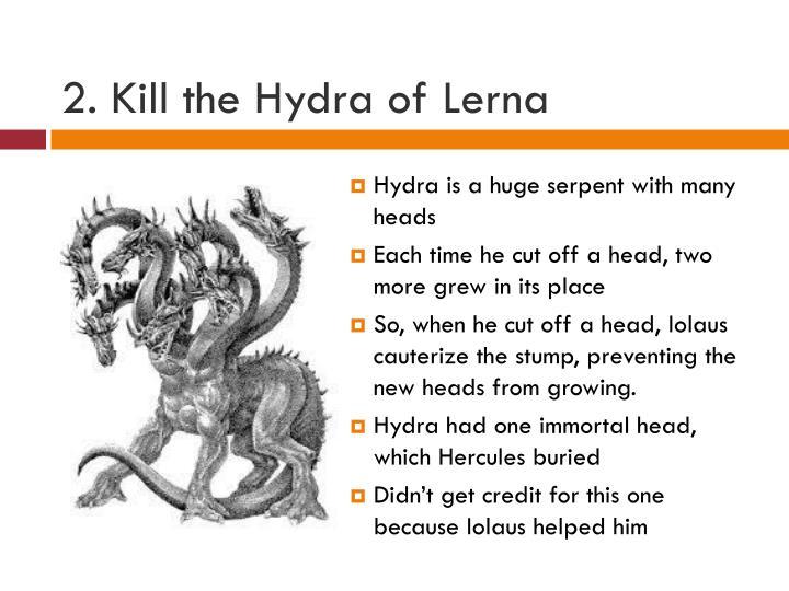 2. Kill the Hydra of