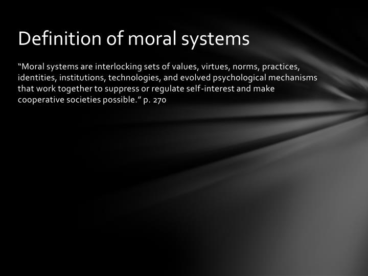Definition of moral systems