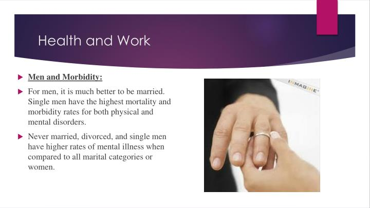 Men and Morbidity