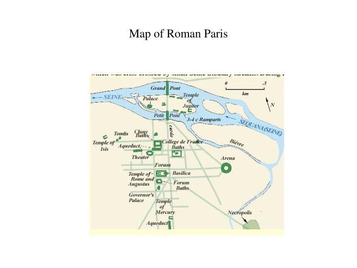 Map of Roman Paris