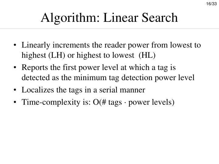 Algorithm: Linear Search