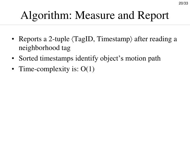 Algorithm: Measure and Report