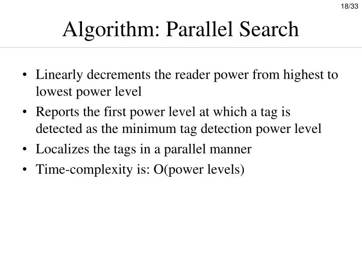 Algorithm: Parallel Search