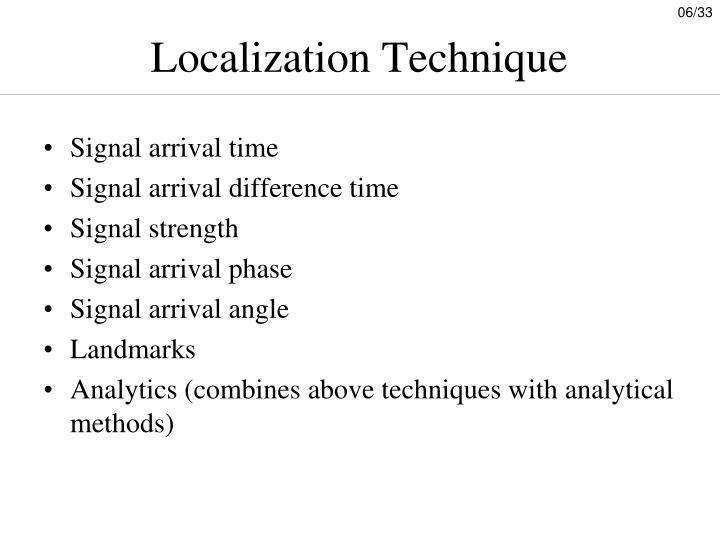Localization Technique