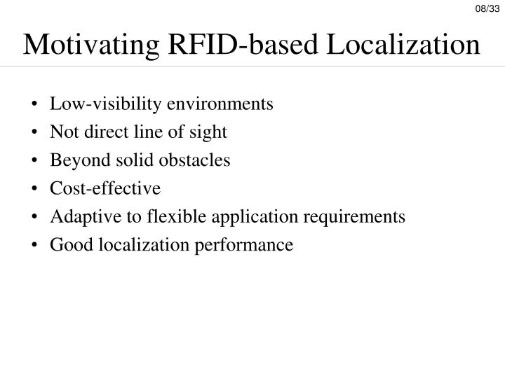 Motivating RFID-based Localization