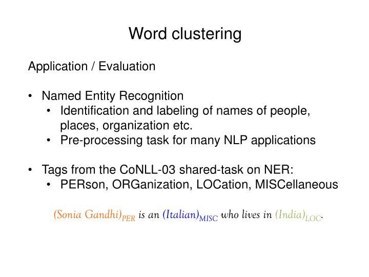Word clustering