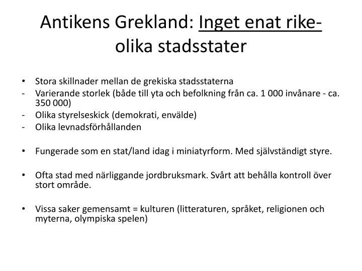 Antikens Grekland: