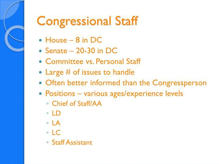 Congressional Staff