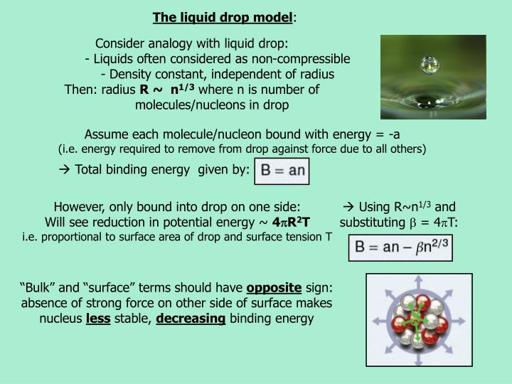 The liquid drop model