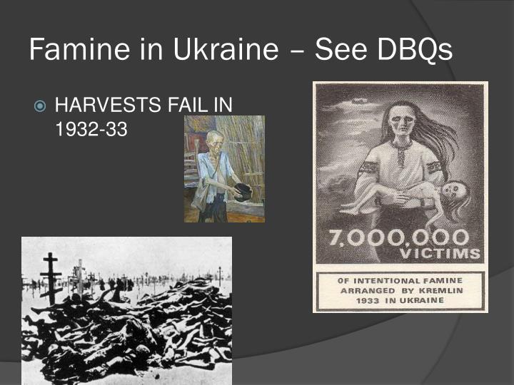 Famine in Ukraine – See DBQs