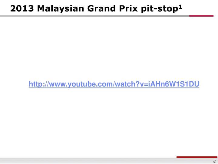 2013 Malaysian Grand Prix pit-stop