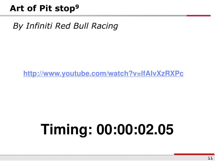Art of Pit stop
