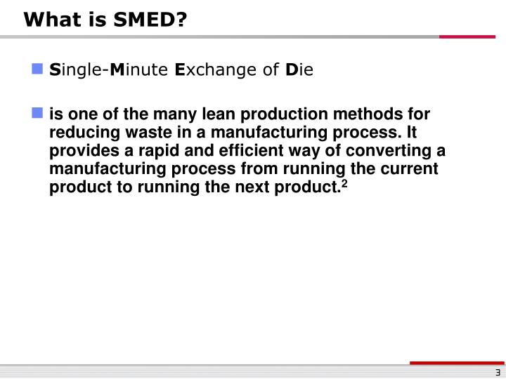 What is SMED?