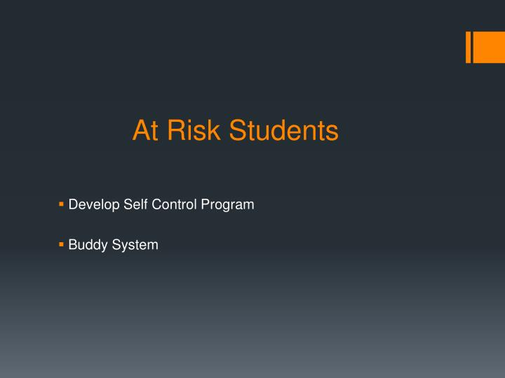 At Risk Students
