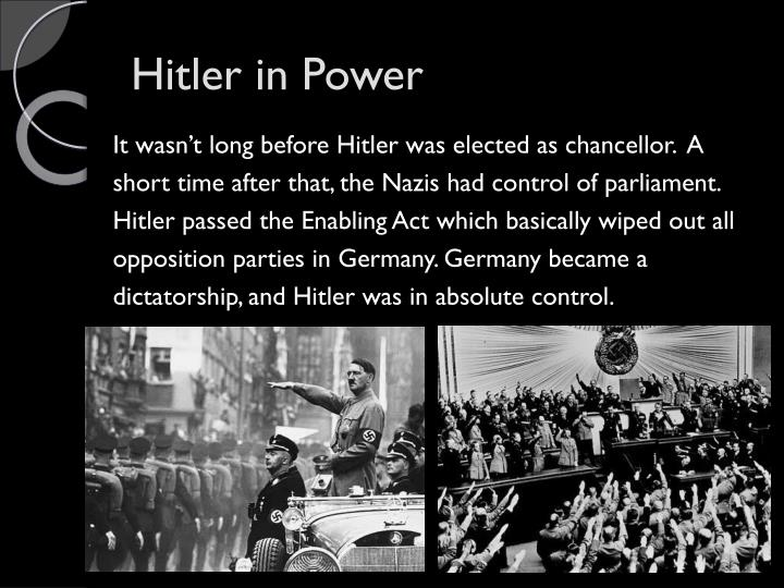 Hitler in Power