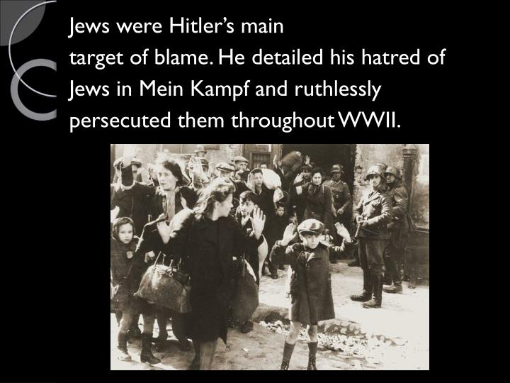 Jews were Hitler's main