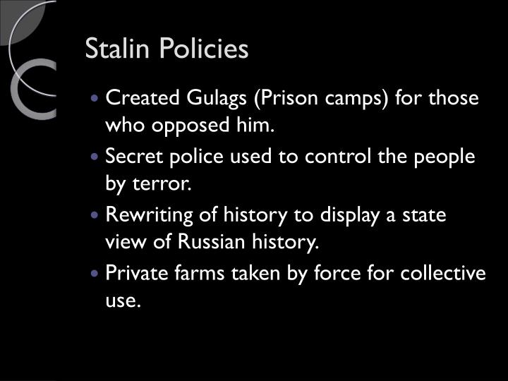 Stalin Policies