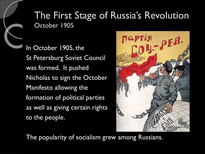 The First Stage of Russia's Revolution