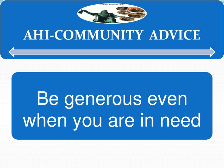 AHİ-COMMUNITY ADVICE
