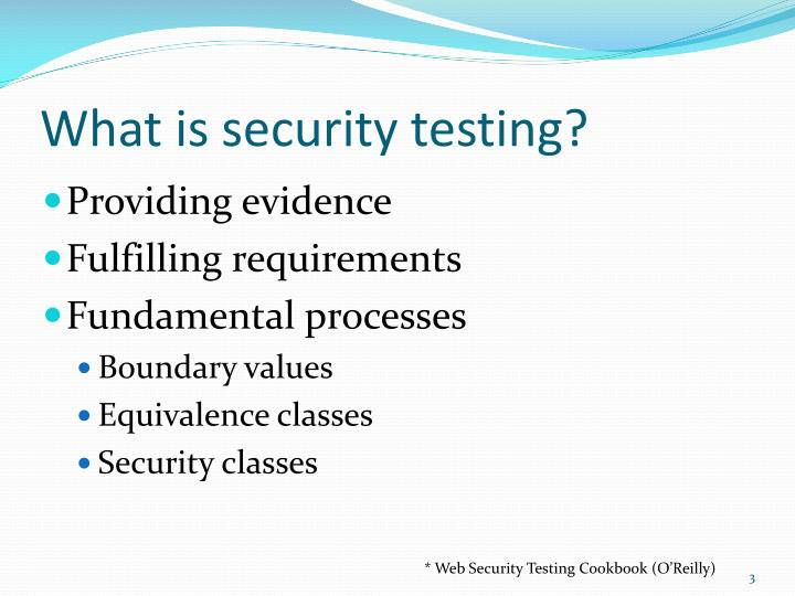 What is security testing?