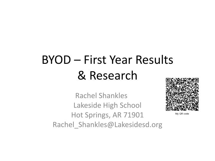 Byod first year results research