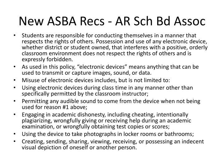 New ASBA