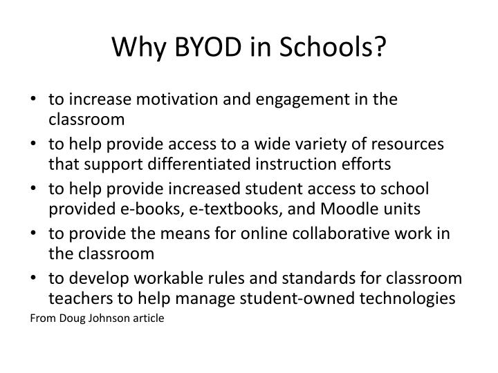 Why BYOD in Schools?