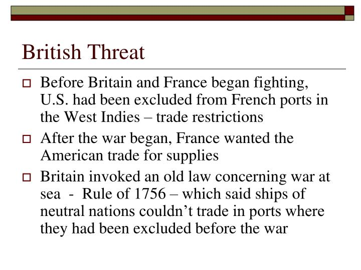 British Threat