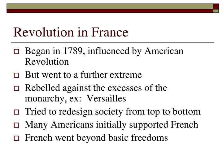 Revolution in France