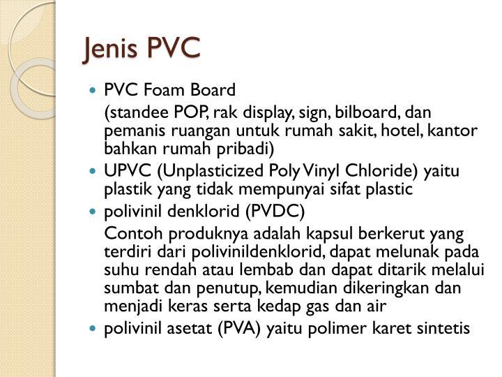 Jenis PVC