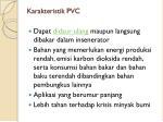 karakteristik pvc