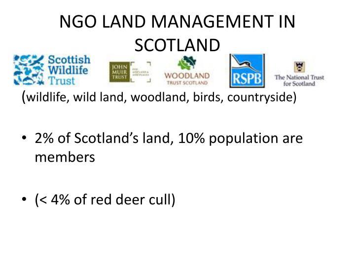 NGO LAND MANAGEMENT IN SCOTLAND