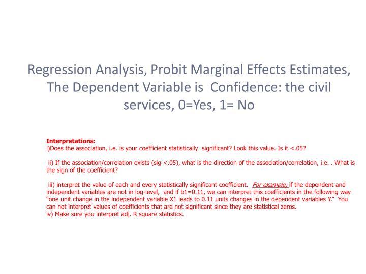 Regression Analysis,