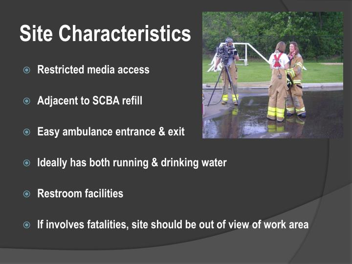Site Characteristics