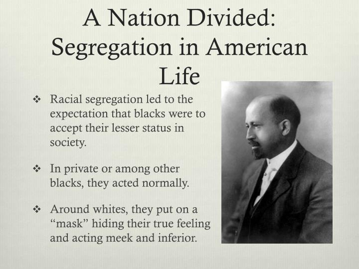 A nation divided segregation in american life