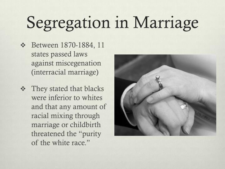 Segregation in Marriage